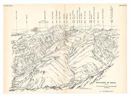 CARTE 1927 - 14,8 X 20 Cm - MONTAGNES De BIELSA - PYRÉNÉES - DESSINÉ Par FRANZ SCHRADER - Topographical Maps