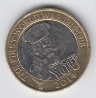 Great Britain UK £2 Two Pound Coin (WW1 Kitchener) - Circulated - 2 Pounds