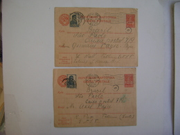 ESTONIA / EESTI - 3 POST WHOLESONS SENT FROM TALLINN TO SAO PAULO (BRAZIL) IN 1941 IN THE STATE - Estonie