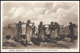 AFRICA ORIENTALE ITALIANA - Donne Baria Che Si Recano Ai Pozzi - 1935/36 - Eritrea