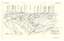 CARTE 1925 - 14 X 22 Cm - MONTAGNES à L'EST De BAGNERES De LUCHON - PYRÉNÉES - DESSINÉ Par FRANZ SCHRADER - Topographical Maps