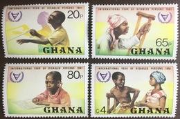 Ghana 1981 Year Of The Disabled MNH - Ghana (1957-...)