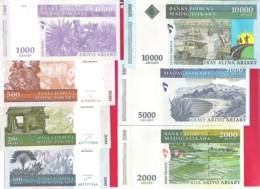 MADAGASCAR  2004 Série De 7 Billets Set Of 7 Banknotes 100/200/500/1000/2000/5000/10000 Ariary UNC - Madagascar