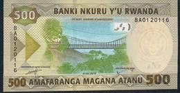 RWANDA NLP 500 Francs 2019 UNC - Rwanda