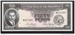 PHILIPPINES  P138d  50  PESOS   (1949)   UNC. - Philippines