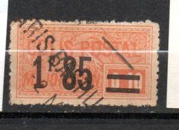 FRANCE COLIS POSTAL N° 42 1F85 S 0.10 ORANGE MAJORATION OBL - Used