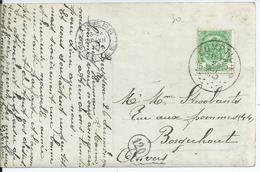 Fantasiekaart Met OCB 83 - Afstempeling CUMPTICH - COBA  50 - 1893-1907 Wappen