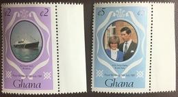 Ghana 1981 Royal Wedding Booklet Stamps MNH - Ghana (1957-...)
