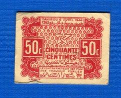 Maroc  50  Cents  1944 - Morocco