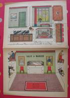 Découpage Diorama à Construire. Salle à Manger Meubles Personnages. 1936 - Collections