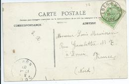 Fantasiekaart Met OCB 56 - Afstempeling EBEN-EMAEL - COBA 8 - 1893-1907 Coat Of Arms