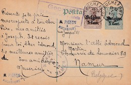 Carte OC2 11 Rochefort à Namur Cachet Censure Mlilitaire Namur - [OC1/25] Gen.reg.