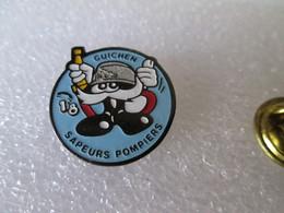 PIN'S   POMPIERS   GUICHEN - Brandweerman