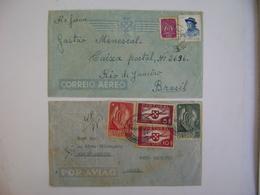 PORTUGAL - 2 LETTERS SENT TO RIO DE JANEIRO (BRAZIL) IN 1940/47 IN THE STATE - Brieven En Documenten