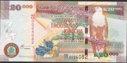 ZAMBIA  P47g 20000 = 20.000 KWACHA 2011   UNC. - Zambia