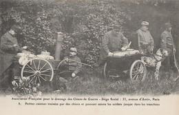 CARTE POSTALE  Petites Cuisines Traînées Par Des Chiens Et Pouvant Suivre Jusque Dans Les Tranchées - Guerre 1914-18