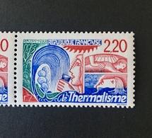 Timbre Neuf Thermalisme 1988 ; Variété Rouge ; Numero Yvert Et Tellier 2556a - Seul Ou En Paire - Variétés Et Curiosités