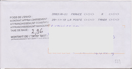 Toshiba 39831A-01 A TAXER Du 28-11-19 + Griffe 7 Lignes........... Taxe De Base - Marcophilie (Lettres)