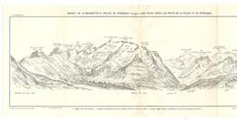 CARTE 1926 - 13,5 X 32,5 Cm - MASSIF De La MALADETTA Et VALLÉE De VÉNASQUE (ESPAGNE) - PYRÉNÉES - DESSIN VICTOR PETIT - Topographical Maps