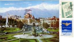CHILE  SANTIAGO  Plaza Baquedano  Cordillera De Los Andes  Nice Stamps - Chile