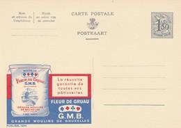 Carte Entier Postal Pubibels 1654 Pâtisserie Fleur De Gruau Grands Moulins De Bruxelles - Enteros Postales