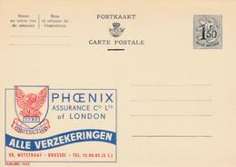 Carte Entier Postal Pubibels 1653 Phoenix Assurance Of London - Enteros Postales