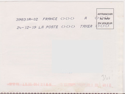 Toshiba 39831A-02 A TAXER Du 24-12-19 (absence Totale Affranchissement) - Marcophilie (Lettres)