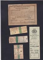 Carnet UNION DES CHEMINS DE FER ALLEMANDS  Novembre 1897 + Tickets Divers Sncf Et Sncb - Chemins De Fer
