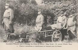 CARTE POSTALE   Chariot à Mitrailleuse Se Transformant En Brancard Pour Les Blessés - Guerre 1914-18