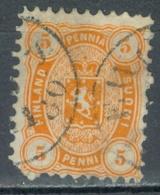Finlande    Yvert 14a  Ou Michel  13Ay  Ob  B/TB - 1856-1917 Russische Verwaltung