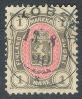 Finlande    Yvert  25  Ou Michel  24   Ob  TB - 1856-1917 Russische Verwaltung