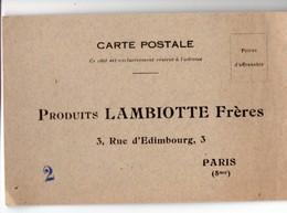 Paris 8e : Rue D'Edimbourg :  Carte Postale Réponse LAMBIOTTE FRERES (PPP22947) - Publicidad