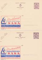 Cartes Entier Postaux Pubibels 857 858 Sasa Mesdames Choisissez Toujours Les Soieries - Enteros Postales