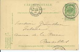 5c-postkaart - Afstempeling BLANKENBERGHE Type 3R - COBA 8 - 1893-1907 Wappen