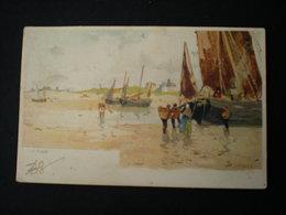 LA PANNE - ILLUSTRATEUR H. CASSIERS - BATEAUX DE PECHE - De Panne