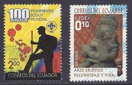 Ecuador - 2006 - 2007 - Pre-Columbian Erotic Art, Fecundation And Life, Kunst, Statue, Scout Movement - Used - Ecuador