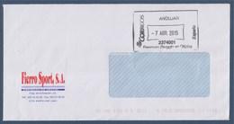 Espagne Sur Enveloppe Empreinte Machine, Affranchissement Payé Au Bureau De Poste Andujar 7 Avril 2015 - 1931-Oggi: 2. Rep. - ... Juan Carlos I