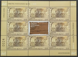 2020 EUROPA, Ancient Postal Routes, Montenegro, MNH - Montenegro