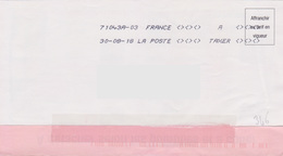 Toshiba 71043A-03 A TAXER Du 30-08-18 Absence Totale Affranchissement - Marcophilie (Lettres)
