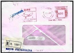 Italia/Italie/Italy:  EMA, Meter, Raccomandata, Registered, Salame Di Suino, Saucisse De Porc, Pork Sausage - Food