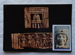 Carte Maximum Card  Mona Lisa En Ivoire Nimrud Mali 1994 - Archaeology