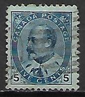 CANADA     -   1903 / 09  .  Y&T N° 80 Oblitéré - 1903-1908 Edward VII