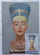 Carte Maximum Card Nefertiti Carte Musée Dalhem Mali 1994 - Archaeology