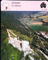 PUIVERT  - Le Château - Photo - FICHE GEOGRAPHIQUE Larousse Laffont - Géographie