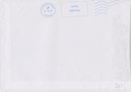 Néopost La Poste 21999A Couronne Pleine Fausse Direction 5 Lignes Pleines Ondulées - Maschinenstempel (Sonstige)