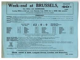 London :  WEEK END  (or FIVE DAYS) AT BRUSSELS Via Hull & Zeebrugge (PPP22951) - Publicidad