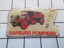 516b Pin's Pins / Beau Et Rare / THEME : POMPIERS / CAMION ROUGE SAPEURS-POMPIERS DE YUTZ - Brandweerman