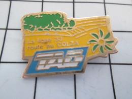 516b Pin's Pins / Beau Et Rare / THEME : TRANSPORTS / TAG LA LIGNE 33 ROULE AU COLZA - TGV