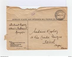 Sur Env. Ouverte Censure Militaire Nazie Pour La France, C. Camp Militaire Suisse De Balterswil . C. Oberkommando.(1007x - Guerre De 1939-45