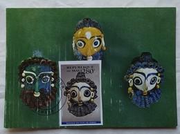 Carte Maximum Card Masques Puniques En Pâte De Verre    Mali 1994 - Archaeology